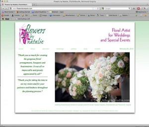 web design Flowers by Natalie